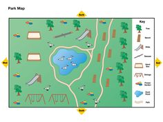 Introduce young students to the concept of maps as representations of places with this park map. Map Activities, History Activities, Indoor Activities For Kids, Teaching Map Skills, Teaching Maps, Teaching Ideas, Writing Skills, Learning Resources, Preschool Social Studies