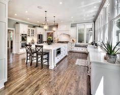 Super Home Dream Kitchen Layout Ideas Kitchen Redo, Home Decor Kitchen, New Kitchen, Home Kitchens, Kitchen Ideas, Kitchen Floors, Kitchen Pantry, Kitchen Furniture, Rental Kitchen