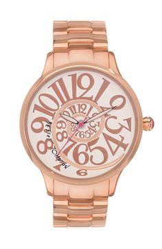 Betsey Johnson 'Lots 'n' Lots of Time' Swirl Dial Watch available at #Nordstrom