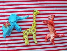 Easy Paper Mache Circus Animals  •  Free tutorial with pictures on how to make a papier mache model in under 60 minutes