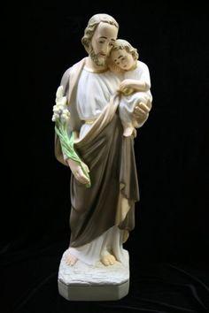 """St. Joseph with Child Statue - 24""""H - Multi-Color"""