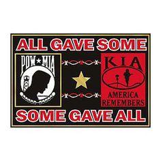 America Remembers - POW*MIA / KIA Magnet