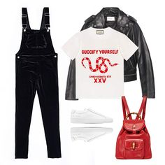 - Fully embrace your inner child with a casual look you wore endlessly as a kid—but with ultra-tailored flair. Opt for overalls in a slim silhouette and an over-the-top chic graphic tee. Finish it off with a classic leather jacket and white sneakers.