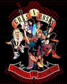 Classic Rock Bands, Classic Rock And Roll, Guns N Roses, Rock And Roll Bands, Rock N Roll, Rock Y Metal, Rock Rock, Indie Singers, Rock Band Posters