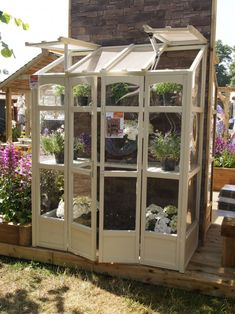Tall Wall Greenhouse - All For Garden Homemade Greenhouse, Lean To Greenhouse, Outdoor Greenhouse, Cheap Greenhouse, Greenhouse Plans, Pallet Greenhouse, Hampton Court Flower Show, Wooden Greenhouses, Greenhouse Interiors