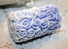Guest Soap Pillar of  Purple Roses Vegan Friendly by FrontRangeLL, $5.00 #GGGTEAM