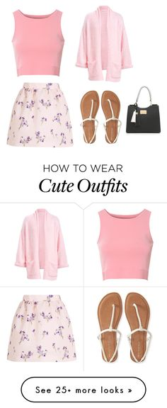 """Cute Summer Outfit"" by lsantana13 on Polyvore featuring Glamorous, RED Valentino and Aéropostale"