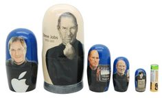 Matryoshka nesting doll Steve Jobs 5 pc | ArtMatryoshka - Toys & Hobbies on ArtFire