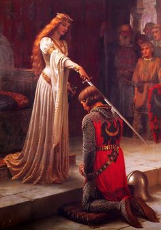 Edmund Blair Leighton - The Accolade [1901] | Arash Noorazar Virtual Art Gallery  #20th #Contemporary #Edmund #Blair #Leighton #Painting