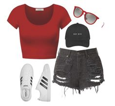 """""""Boy Bye"""" by stinkerbelle2000 ❤ liked on Polyvore featuring DK, adidas and Ray-Ban"""