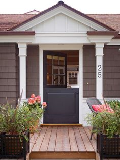 Give your home whimsical style with a Dutch front door. See more home home update ideas: http://www.bhg.com/home-improvement/remodeling/budget-remodels/weekend-projects-under-20-dollars/#page=17
