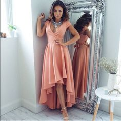 2017 Zipper Asymmetrical V-Neck A-line Homecoming Dress Hot Sale Dresses