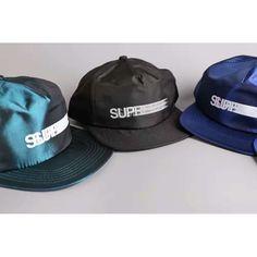 Supreme 16SS Motion 5 Panel Cap 2016 Color Options! #hat #streetwear #onlineshop #hatstash #supreme Streetwear Hats, Streetwear Online, Motion 5, 5 Panel Cap, Strapback Hats, Hat Shop, Supreme, Street Wear, Product Launch