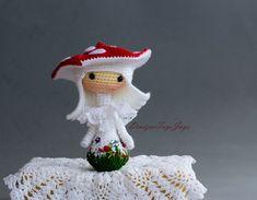 Crochet Amanita muscaria Doll. pdf crochet pattern. by deniza17