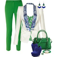 Green & Blue, created by feelgood35 on Polyvore