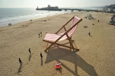 World's largest deckchair takes centre stage on Bournemouth beach Bournemouth Beach, Bournemouth England, Costa, Beach Video, Big Chair, Street Marketing, Beach Reading, Beach Chairs, Beach Art