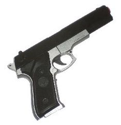 HAMMOND TOYS COLT 45 MM SEMI AUTOMATIC PISTOL GUN WITH SOUND AND BLOW BAC ACTION