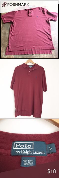 Polo By Ralph Lauren Maroon Men's Polo by Ralph Lauren,  Great condition! 100% cotton Polo by Ralph Lauren Shirts Polos