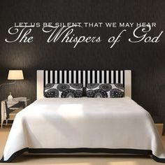 Let Us Be Silent That We May Hear The Whispers Of God Quote Wall Sticker - Religious Quotes - Wall Quotes