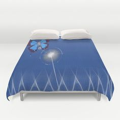 Butterfly Mecanism Duvet Cover Personalized Color - Full Queen King - Gift for her Him Bedding Bed Decor Modern Apartment BLue  (118.00 USD) by xkbeth