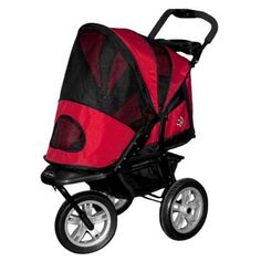 AT3 All Terrain Pet Stroller RED >>> You can get more details by clicking on the image. #DogCarriersTravelProducts