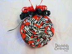 Red Zebra  Red Black and White Zebra Print by DelightfullyOrnament, $18.00