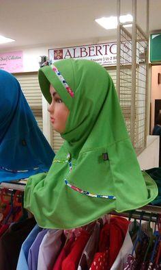 Jilbab Anak Aster Hijau
