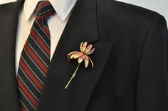 Men's Groom's Brooch Boutonniere - select your color, style and price from my huge collection, bestman, groomsmen, groomsman. $10,00, via Etsy.