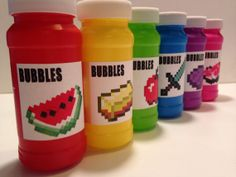 6 Pack of Minecraft Bubbles  Item Themed by acreativeinspiration, $6.00