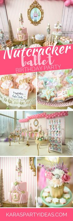Nutcracker Ballet Birthday Party via Kara's Party Ideas - KarasPartyIdeas.com