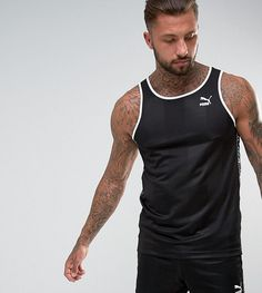 Puma Retro Soccer Tank In Black Exclusive to ASOS 57657903 - Black