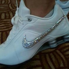 ♥♥ add gems or glitter to your nike's.