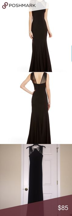 Long Black Dress B. Darlin Sleeveless Strappy High Neckline Long ITY Knit Dress. Simple but SEXY black ⚫️ dress!! Only worn once to a wedding!! Great for prom or a wedding or any occasion ♣️♠️ B Darlin Dresses Maxi