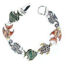 New Crab Seahorse Sea Turtle Tropical Fish Ocean Shell Magnetic Bracelet