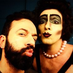 Last #picture #show #final #day #frank #backstage #before the #entrance #mania  (at Rocky Horror Show Athens)