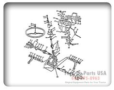 58 best ford tractor images in 2014 ford tractors, tractor salesford 8n 03c02 steering gear related parts 8n asn 216989 john merrell · ford tractor