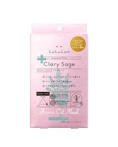 LULULUN PLUS CLARY SAGE 5 SHEETS #skincare #luluun #clary #sage #pink #nature #arome #france #essential