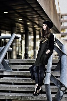 OUTFIT / WINTER LEATHER FOR GRAZIA.IT PART 1