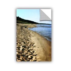ArtWall Kevin Calkins ' Footsteps In The Sand' Artappealz Removable Wall Art