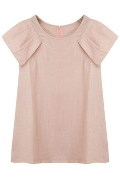 ROMWE | Pleated Sleeves Pink Blouse, The Latest Street Fashion