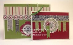 Card and tag made using the Merry Moments Simply Scappin kit...quick, easy, and elegant!