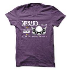 MENARD RULE\S Team - #gift ideas for him #gift for women. CHEAP PRICE => https://www.sunfrog.com/Valentines/MENARD-RULES-Team-57380312-Guys.html?68278