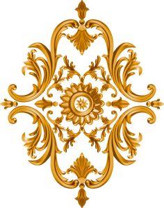 Baroque Design, Baroque Pattern, Flower Art Images, Border Design, Textile Design, Damask, Digital, Drawings, Creative