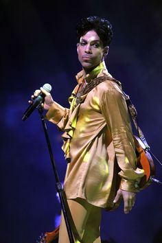 Prince sings at the Izod Center as part of his Welcome to America Tour Copyright NPG 2010