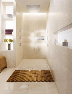 Grohtherm F gives you the freedom to design your spa shower exactly as you please. Featuring GROHE TurboStat® technology, the shower thermostat responds within a fraction of a second to any changes in the incoming water supply. Constantly readjusting the balance of hot and cold water to ensure the temperature you select at the start of your shower remains constant for the duration of your shower.