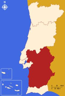 This is a map of the region the vineyard & BB is in.  Alentejo wine - Wikipedia, the free encyclopedia