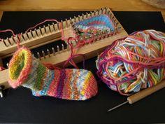 Sock Loom Basics   Sock loom knit pattern. Basic Sock. Many sizes available.