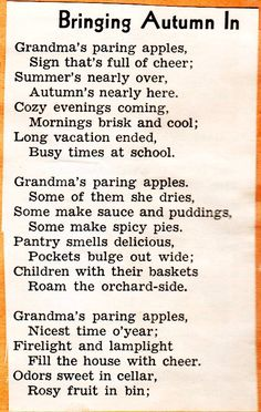 More Autumn Poems