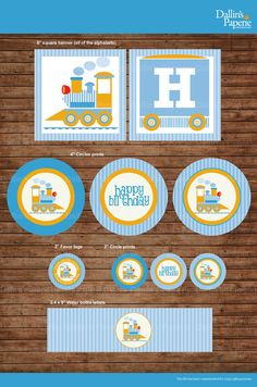Choo Choo Train Birthday Party DIY Printable by DallinsPaperie