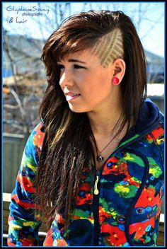 Hair Tattoo Designs for Girls Undercut Hairstyles, Cool Hairstyles, Shaved Hairstyles, Side Shave Design, Haare Tattoo Designs, Shave Designs, Shaved Head Designs, Coiffure Hair, Natural Hair Styles